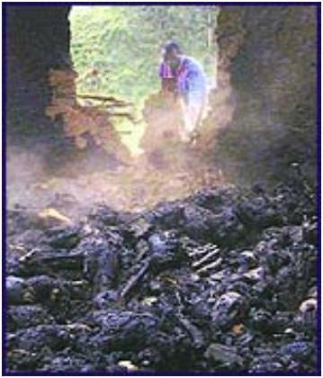 cadáveres calcinados